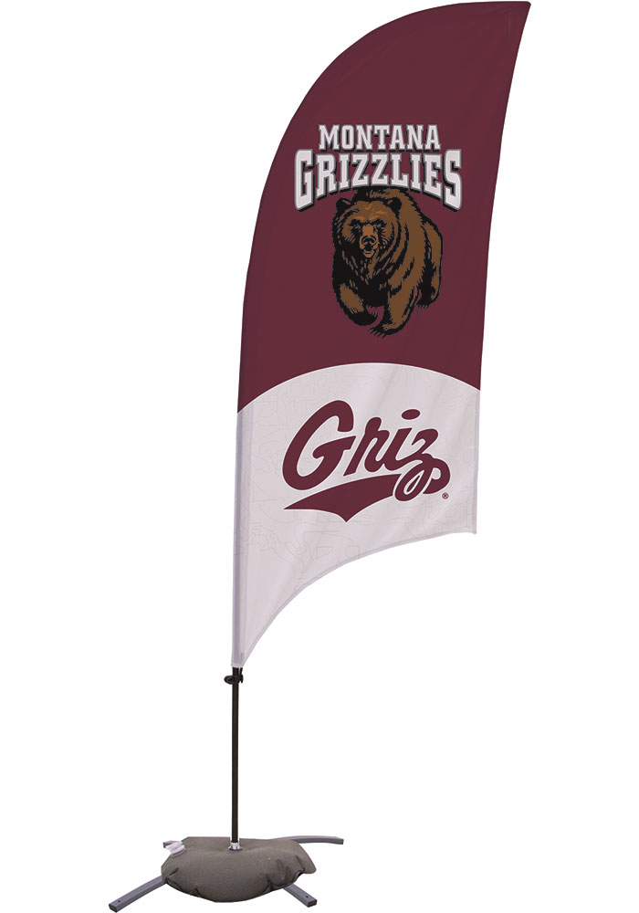 Montana Grizzlies 7.5 Foot Cross Base Tall Team Flag - Image 1