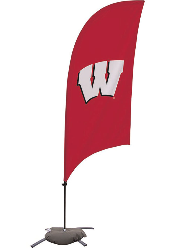 Wisconsin Badgers 7.5 Foot Cross Base Tall Team Flag - Image 1