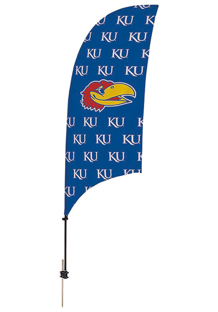Kansas Jayhawks 7.5 Foot Spike Base Tall Team Flag - Image 1