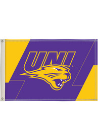 Northern Iowa Panthers 2x3 White Silk Screen Grommet Flag