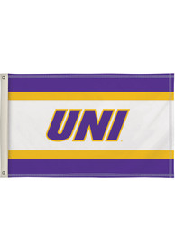 Northern Iowa Panthers 3x5 White Silk Screen Grommet Flag