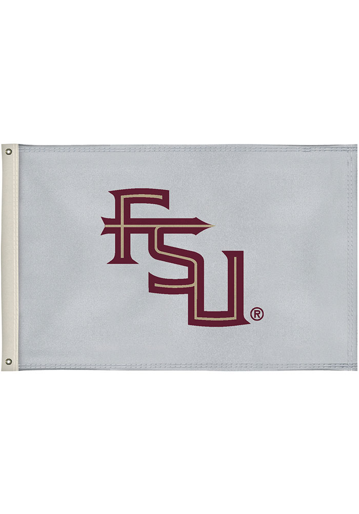 Florida State Seminoles 2x3 White Silk Screen Grommet Flag - Image 1