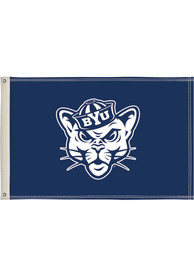 BYU Cougars 2x3 Blue Silk Screen Grommet Flag