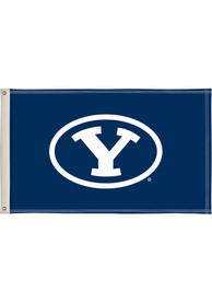 BYU Cougars 3x5 Blue Silk Screen Grommet Flag