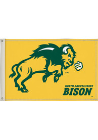 North Dakota State Bison 2x3 Yellow Silk Screen Grommet Flag