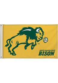 North Dakota State Bison 3x5 Yellow Silk Screen Grommet Flag