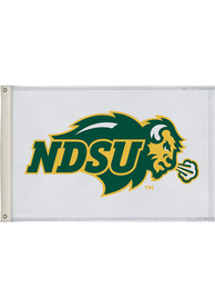 North Dakota State Bison 2x3 White Silk Screen Grommet Flag