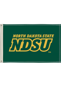 North Dakota State Bison 2x3 Green Silk Screen Grommet Flag