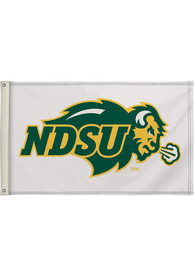 North Dakota State Bison 3x5 White Silk Screen Grommet Flag