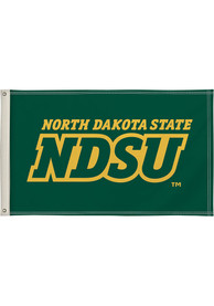 North Dakota State Bison 3x5 Green Silk Screen Grommet Flag