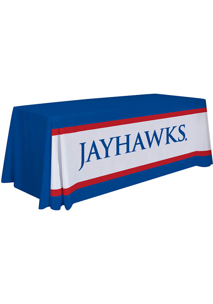 Kansas Jayhawks 6 Ft Fabric Tablecloth - Image 1