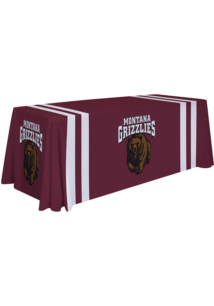 Montana Grizzlies 6 Ft Fabric Tablecloth - Image 1