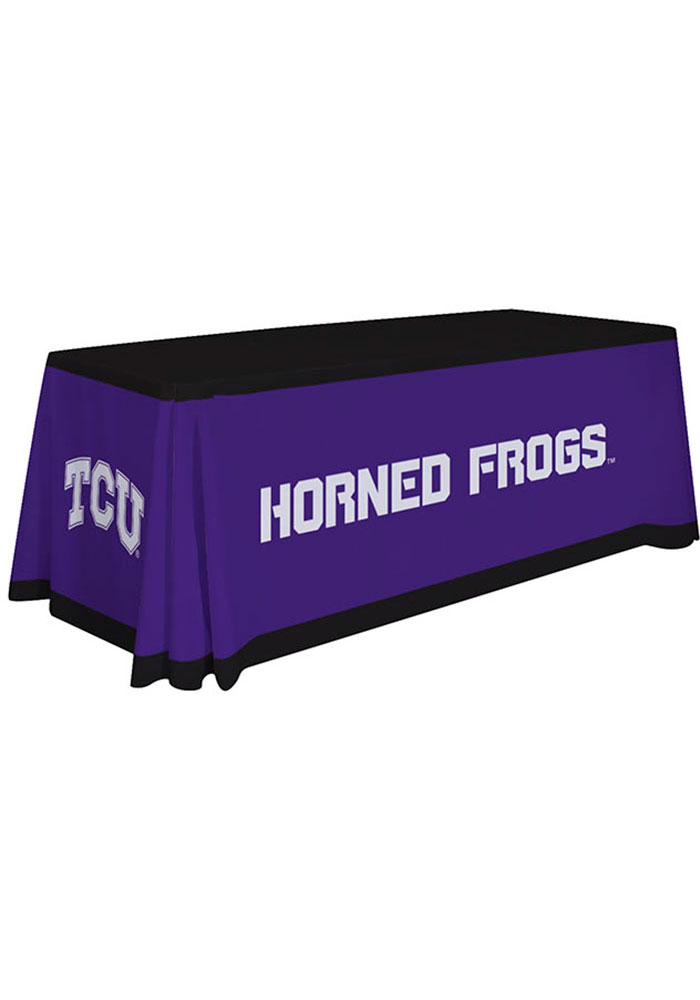 TCU Horned Frogs 6 Ft Fabric Tablecloth - Image 1