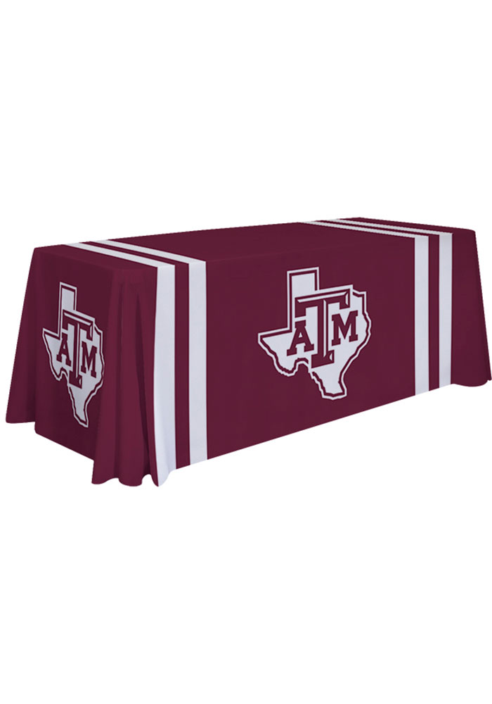 Texas A&M Aggies 6 Ft Fabric Tablecloth - Image 1