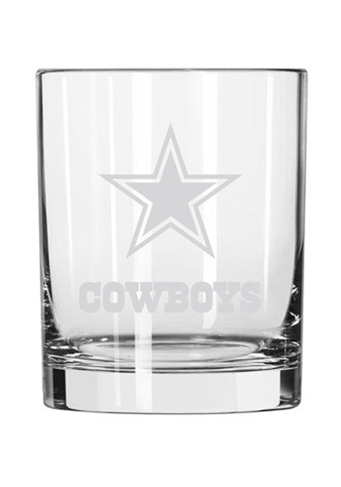 Dallas Cowboys Frosted Logo Rock Glass - Image 1