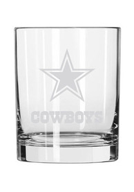 Dallas Cowboys Frosted Logo Rock Glass