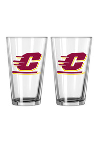 Central Michigan Chippewas Flying C Logo Pint Glass