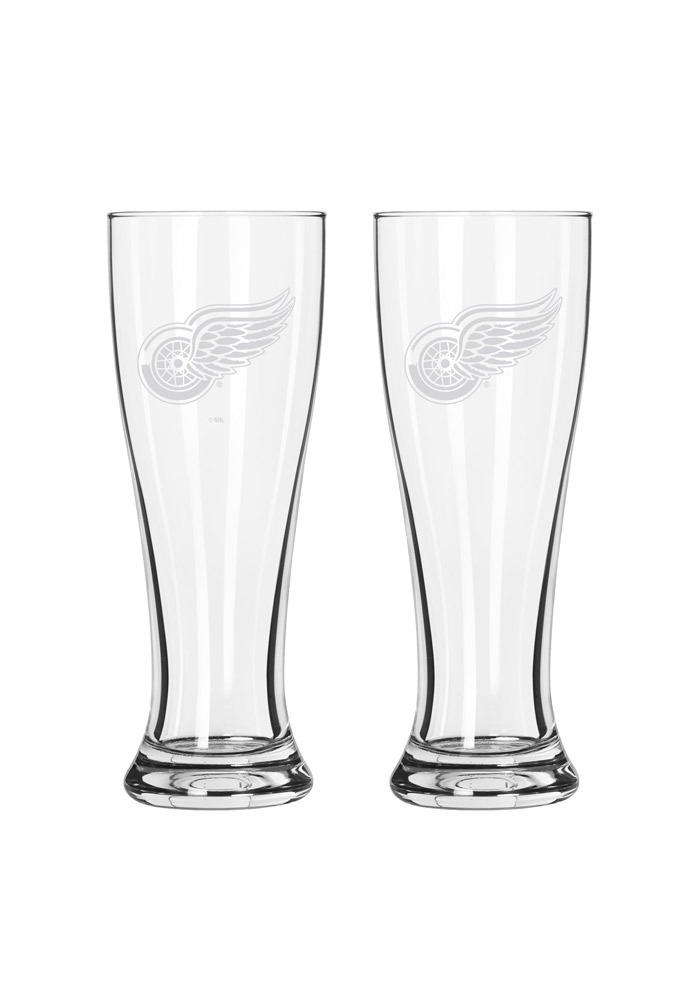 Detroit Red Wings 16oz Clear Pilsner Glass - Image 1