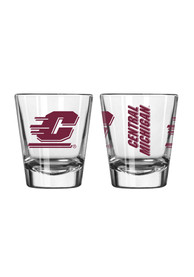 Central Michigan Chippewas 2oz Clear Shot Glass