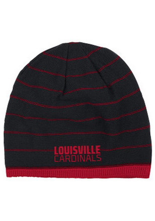 Adidas Louisville Cardinals Mens Black Travel Reversible Knit Hat