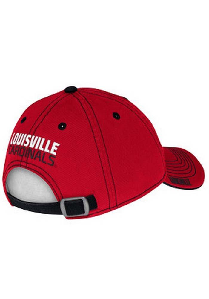 Adidas Louisville Cardinals Mens Red Coach`s Slouch Adjustable Hat - Image 3