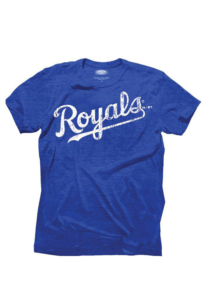 Salvador Perez Kansas City Royals Mens Blue Tri-Blend Name And Number Fashion Player Tee - Image 2