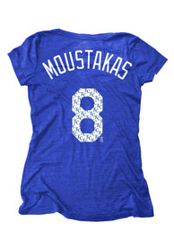 Mike Moustakas Majestic Threads Kansas City Royals Womens Blue Player Player Tee