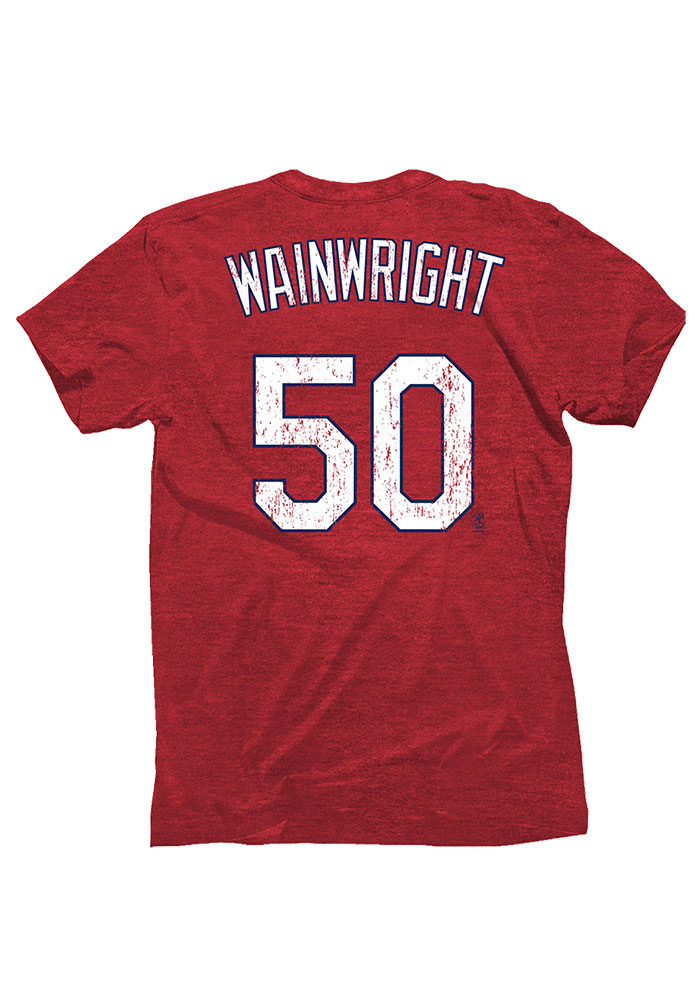 Adam Wainwright St. Louis Cardinals Red Tri-blend player Fashion Player Tee - Image 1