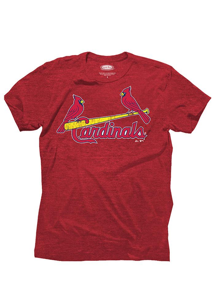 Adam Wainwright St. Louis Cardinals Red Tri-blend player Fashion Player Tee - Image 2