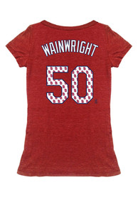 Adam Wainwright Majestic Threads St Louis Cardinals Womens Red Tri-blend player Player Tee