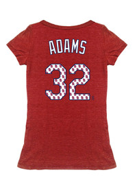 Matt Adams Majestic Threads St Louis Cardinals Womens Red Tri-blend player Player Tee