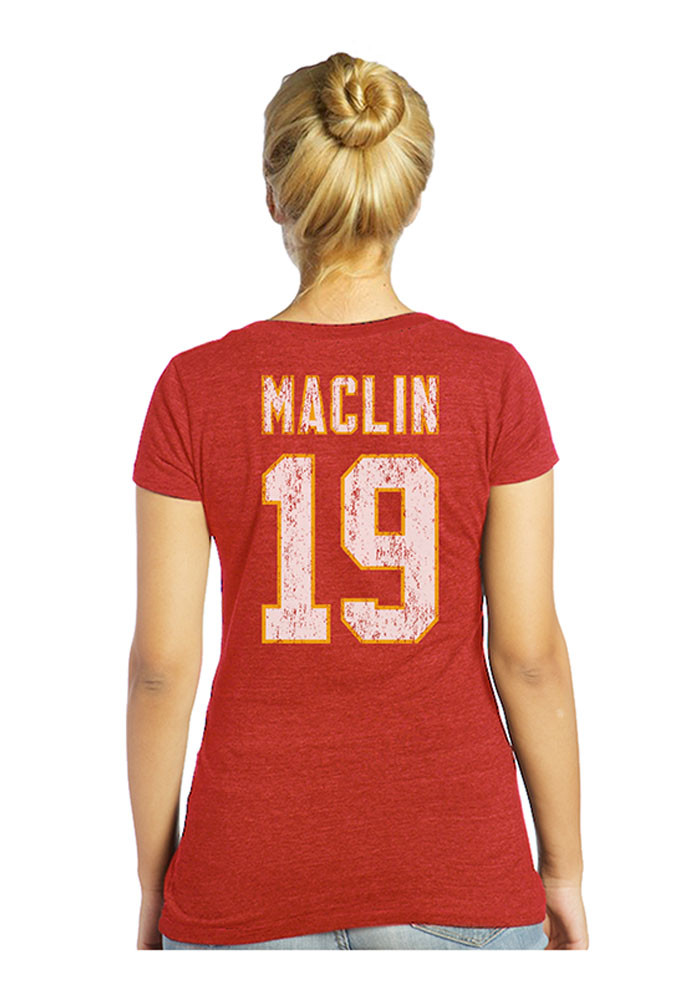 Jeremy Maclin Kansas City Chiefs Womens Red Player Tee Player T-Shirt - Image 2