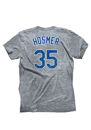 Eric Hosmer KC Royals Mens Gray Name and Number Fashion Player Tee