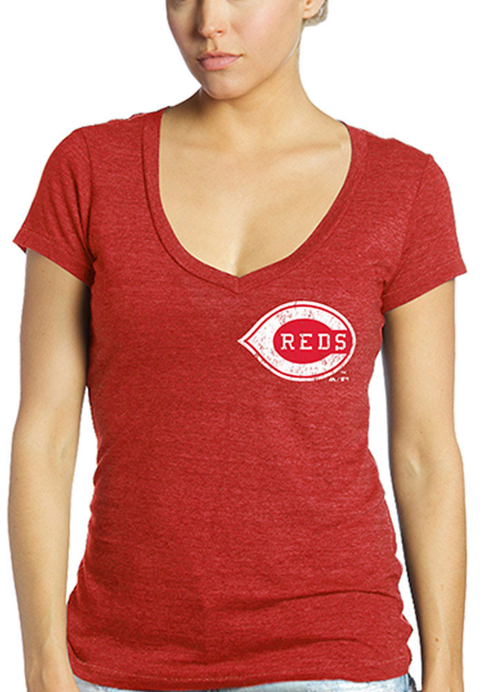 Johnny Bench Cincinnati Reds Womens Red Cooperstown Player Name and Number Player T-Shirt - Image 2