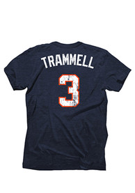 Alan Trammell Detroit Tigers Navy Blue Cooperstown Fashion Player Tee