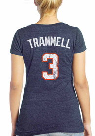 Alan Trammell Majestic Threads Detroit Tigers Womens navy Cooperstown Player Name and Number Player Tee