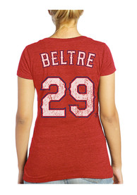 Adrian Beltre Majestic Threads Texas Rangers Womens Red Tri-blend Player Tee