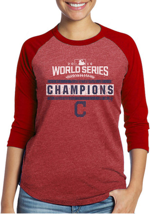 Chicago Cubs Womens Champs Red T-Shirt
