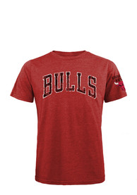 Chicago Bulls Red Wordmark Fashion Tee