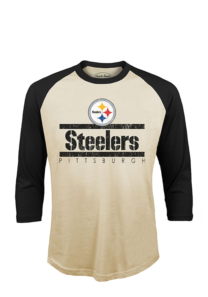 Pittsburgh Steelers Mens White Sideline Long Sleeve Fashion T Shirt - Image 1