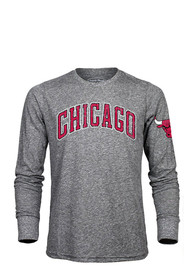 Chicago Bulls Grey Wordmark Fashion Tee