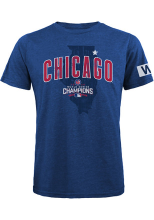 Chicago Cubs Mens Blue Celebration Fashion Tee
