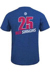 Ben Simmons Philadelphia 76ers Blue Record Holder Fashion Player Tee
