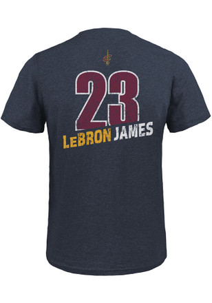 LeBron James Cleveland Cavaliers Mens Navy Blue Record Holder Fashion Player Tee