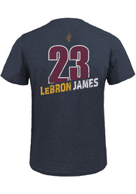 0a77833e2d19 LeBron James Cleveland Cavaliers Navy Blue Record Holder Fashion Player Tee