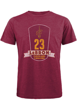 LeBron James Cleveland Cavaliers Mens Maroon Plaque Fashion Player Tee