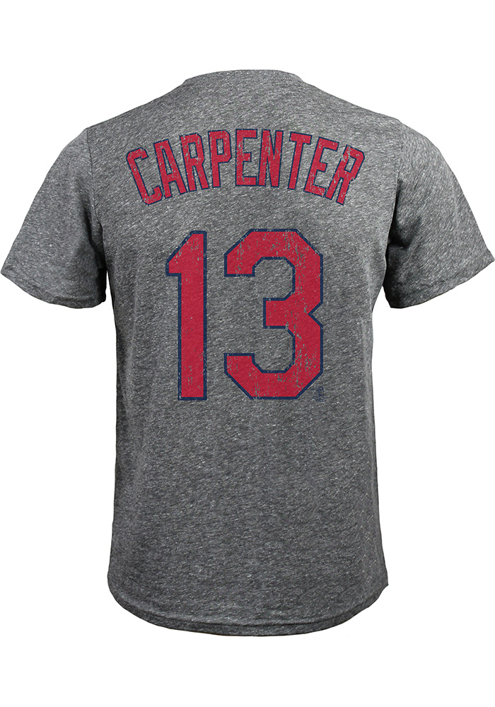 Matt Carpenter St Louis Cardinals Grey N&N Short Sleeve Fashion Player T Shirt - Image 1