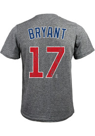 Kris Bryant Chicago Cubs Grey Name and Number Fashion Tee