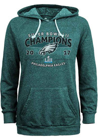 save off 8a386 b1d76 Philadelphia Eagles Womens Midnight Green 2018 Super Bowl Champions Hoodie