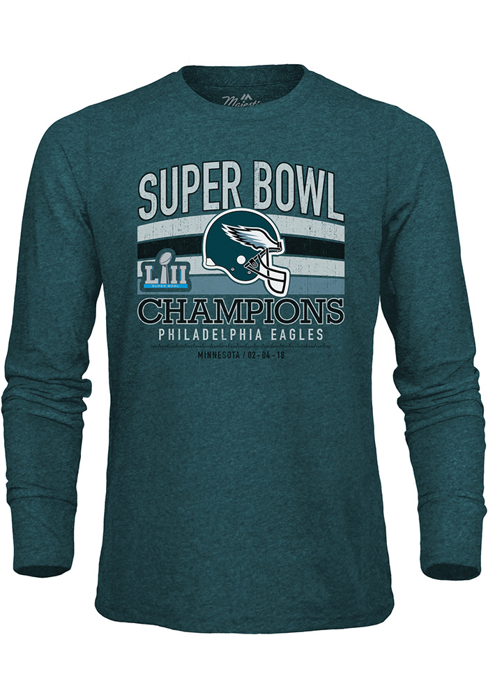 Philadelphia Eagles Midnight Green Classic Game Long Sleeve Fashion T Shirt - Image 1